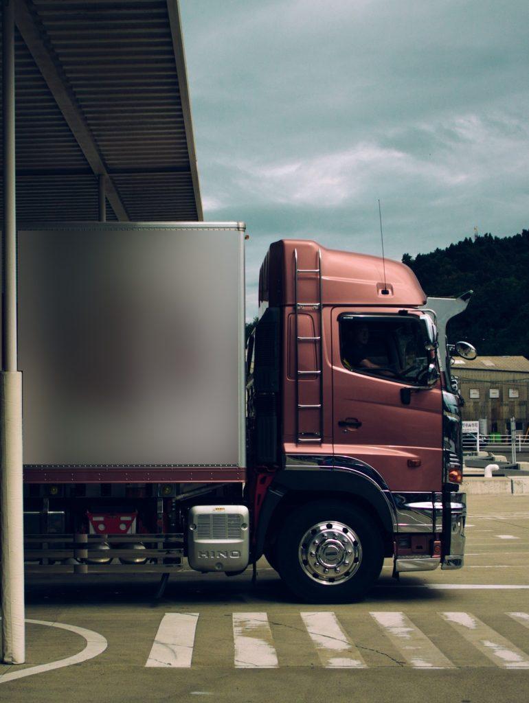Truck delivering truckloads